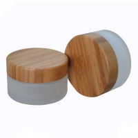 Buy cheap Bamboo Glass Frosted Mist Spray Bottles & Jars for Facial Serum Lotion 5g~250g product