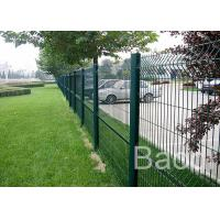 Buy cheap Customized Mild Steel Mesh Fencing Panels , Bus Station Weld Wire Fence With Round Post from wholesalers