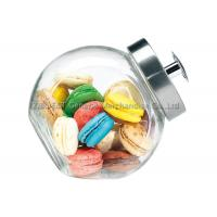 Buy cheap 3L Medium Kitchen Glass Storage Jars with metal lid / large glass cookie jar product