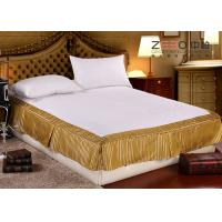 Buy cheap Quilted Hotel Bedding Sets / Hotel Bed Skirts With Fitted Sheet from wholesalers