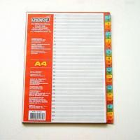Buy cheap Paper Index Divider with Punched 11 Holes and One Color Silkscreen Printing on The Tabs from wholesalers