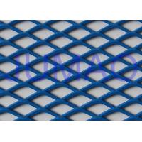 Buy cheap Perforated Architectural Expanded Metal , Blue / Red Steel Expanded Metal Mesh product