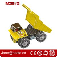 Quality Dump truck 3D puzzle car model kits DIY toys for boy , 3d puzzle truck for sale