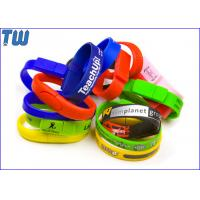 Buy cheap Silicon Wristband Usb Pen Drive 2GB Free Logo Printing Popular Design from wholesalers