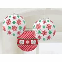 Buy cheap Snowflake Paper Christmas Decorations , Inside Christmas Lanterns With Paper Material from wholesalers