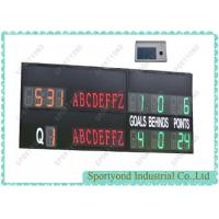 Buy cheap Led Electronic Portable Outdoor Scoreboards For Australian Football , Waterproof IP65 from wholesalers