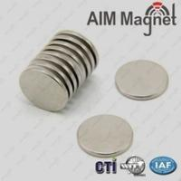 Buy cheap Disc magnet neodymium D16x1.6mm Nickel coating/permanent magnet from wholesalers