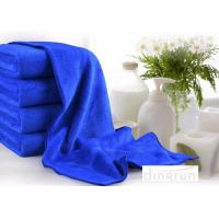 China Super Absorbent Plush Custom Microfiber Towels , Blue microfiber car cleaning cloth 70*140cm on sale