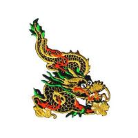 Buy cheap custom Metallic Gold Chinese Dragon Iron On Patch Applique Dragons design from wholesalers