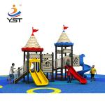 Buy cheap Customized Children Games Outdoor Plastic Slides Playground Kids Play House for Kids from wholesalers