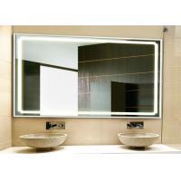 Stylish HD Bathroom TV Mirror Illuminated Custom Made Size Scratch Resistant