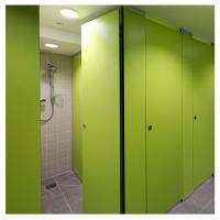 Buy cheap hpl board bathroom set  shower cubicle standard size for restaurant from wholesalers