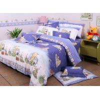 Buy cheap Purple Winnie Pooh Soft Bedding Sets , Cotton Fabric Quilt Cover Bed Sets from wholesalers