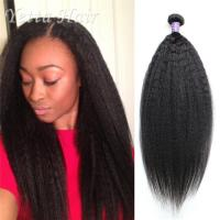 Buy cheap Beauty Mongolian 6A Virgin  Hair  Kinky Straight No Terrible Smell from Wholesalers