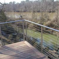 Buy cheap Modern design balcony round handrail and post stainless steel railing from wholesalers