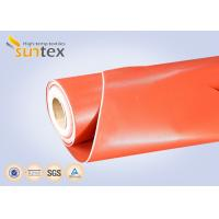 Buy cheap 3732 Red Thermal Insulation Fabric Fireproof Fiberglass Cloth Silicone Rubber Coating from wholesalers