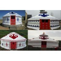 Buy cheap White 100% Wood Frame Mongolian Yurt Tent Waterproof For Hotel Accommodation product
