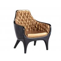 Buy cheap Black And Golden Fiberglass Shell Chair For Bedrooms Offices / Smaller Spaces from wholesalers