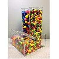 Buy cheap Plexiglass Display Cases ,Clear Acrylic Candy Dispenser With Notched Lid product