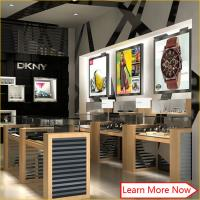 Buy cheap Top quality mdf veneer glass jewelry tradeshow display store with led spot lights from wholesalers