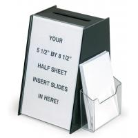 Buy cheap Black Acrylic Ballot Box Suggestion Boxes W 5.5 x 8.5 Sign Holder & Side Pocket from wholesalers