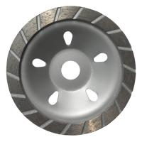 Buy cheap 180MM Sintered Turbo Grinding Head Diamond Cup Wheel , Concrete Grinding Wheel from wholesalers