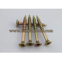 Buy cheap ASME B18.6.3, BS1210 standard yellow zinc plated wood screws from wholesalers