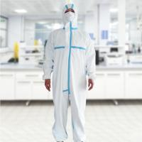 Buy cheap Epidemic Prevention Disposable Protective Suit For Clinic / Hospital / Laboratory from wholesalers