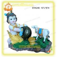 Buy cheap Polyresin Indian God-Baby Krishna with Cow Pooja from wholesalers
