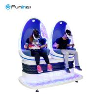 Buy cheap Two Seats Motion Chair Cinema 9D Virtual Reality Game Machine Blue With White Color from wholesalers
