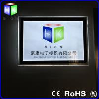 Buy cheap Rectangle Wall Crystal LED Light Box / Aluminum Frame Light Box Supler Thin from wholesalers
