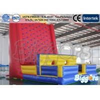 Buy cheap 0.55mm PVC Healthy Inflatable Sports Games Climbing Wall for Rental from wholesalers