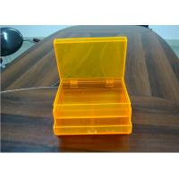 Buy cheap Orange 2layers Acrylic Jewelry Display Case With Drawers , Dyeing And Painting product