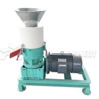Buy cheap Mini Wood Pellet Making Machine / Flat Die Wood Chip Pellet Machine 12mm Pellet size from wholesalers