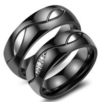 Buy cheap Stainless Steel Custom Couple Rings Diamond , Round Engagement Rings from wholesalers