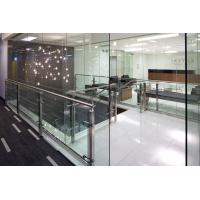 Buy cheap Factory price customized design stainless steel handrail indoor Tempered glass balcony railing product