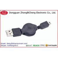 China Black Double Way Extension Standard 5 Pin Mini usb Cable on sale