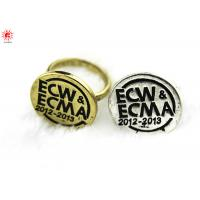 Buy cheap Engraved Letter Gold Metal Finger Rings Mens Finger Jewelry , Unique product
