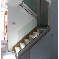 Buy cheap glass stair railing design aluminum u channel base glass balustrade from wholesalers