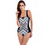 Buy cheap Sexy Plus Size One Piece Swimwear Women Plunge Neck Swimsuit Push Up Bathing Suit Solid Beach Wear Sport Bodysuit Swimmi from wholesalers