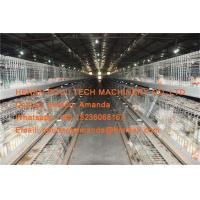 Buy cheap Poultry Farm Hot Galvanized Steel Silver A Type Broiler Chicken Cage with Feeding & Drinking System for Chicken House from wholesalers