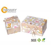 Buy cheap Imitation Leather Custom Packaging Boxes , Fancy Paper Gift Boxes with Lid from wholesalers