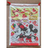 Buy cheap Hot Selling Colourful Plastic Drawstring Carrier Bags For Apparel / Garments / Clothing from wholesalers