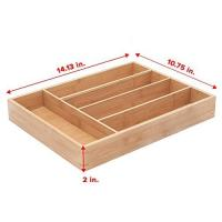 Buy cheap 5-slot bamboo kitchen cutlery drawer organizer from wholesalers