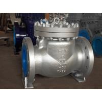 Buy cheap BS 1868 API 6D Swing Check Valve , 12 Inch Check Valve With Fully Enclosed Gasket from wholesalers