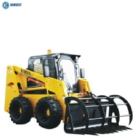 Buy cheap Operating Capacity 1050kg 85HP Mitsubishi 62kW Engine WS85 Skid Steer Loader from wholesalers