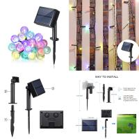 Buy cheap Multi Colors 8 Modes Fairy Solar Motion Sensor Led Light String For Switch Holiday Decoration from wholesalers