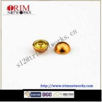 Buy cheap Alloy rivet 12.6MM brass with gold hemispherical fashion metal button from wholesalers