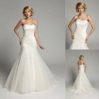 Buy cheap Beaded Crystal Backless Sweetheart Wedding Gowns Long Train Bridal Gowns from wholesalers