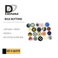 Buy cheap Fancy Colour Bulk Clothing Buttons , 4 Holes Plastic For Shirt from wholesalers
